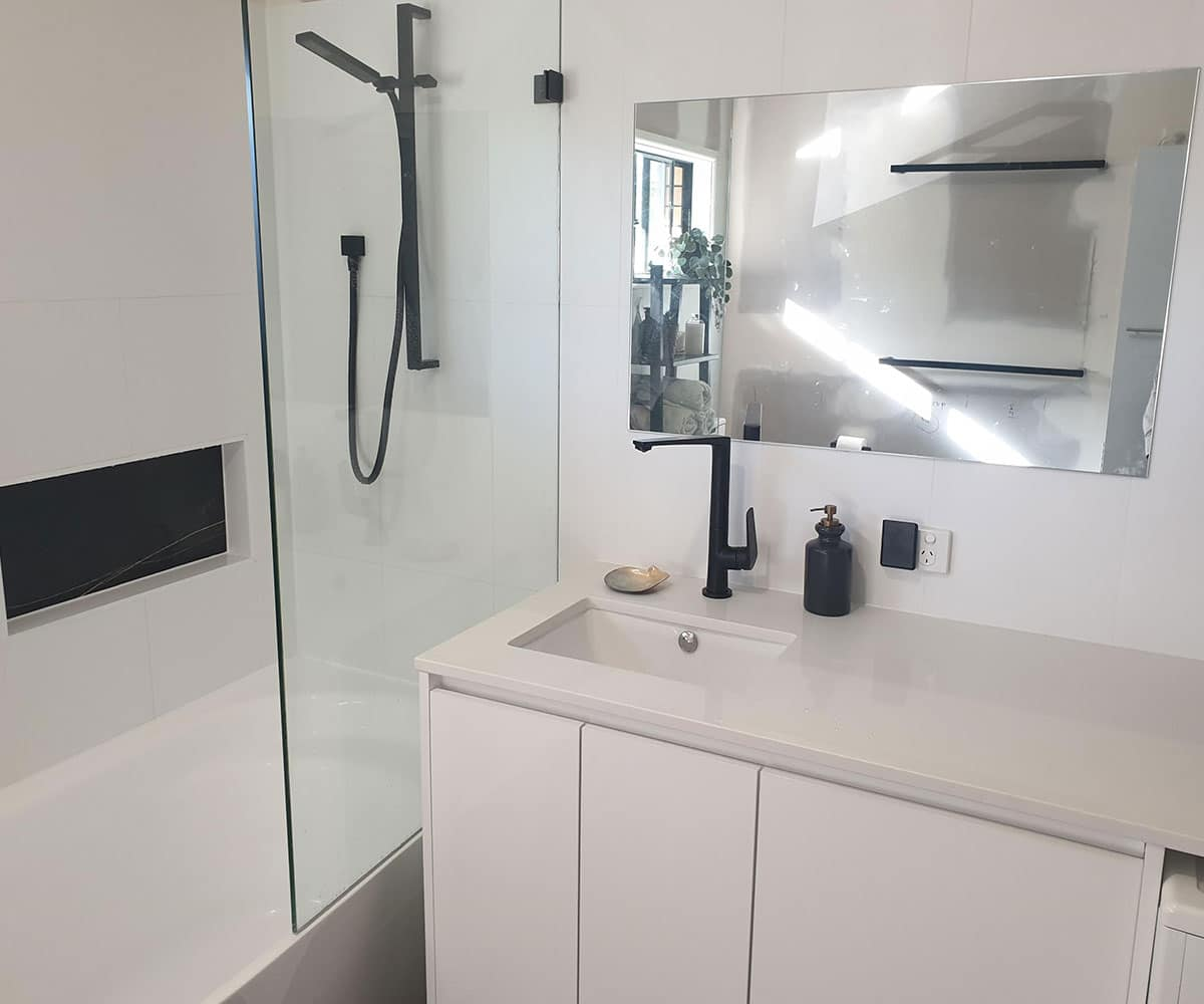 New Bathroom and Laundry Renovation. River Hills, Brisbane